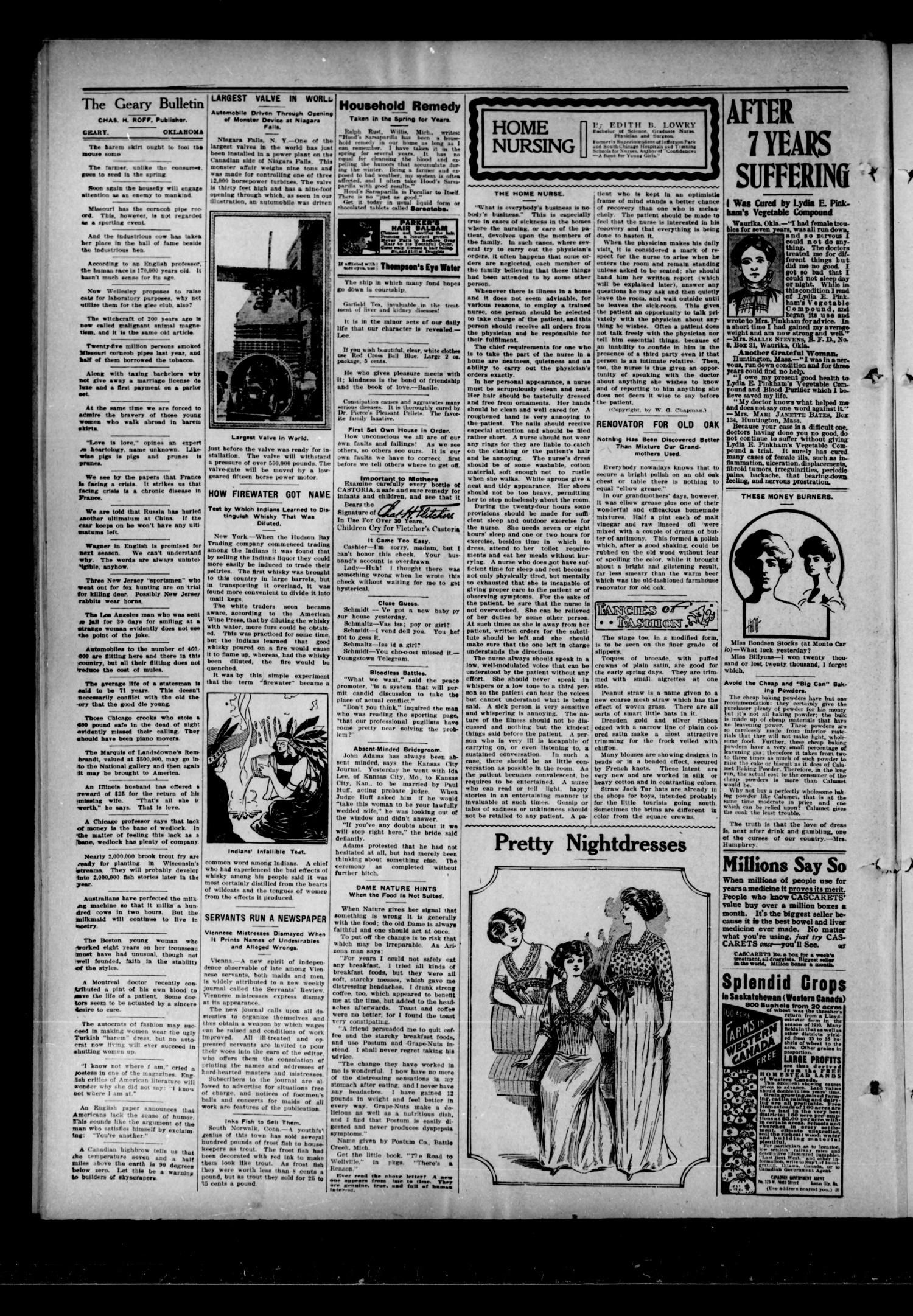 The Geary Bulletin. (Geary, Okla.), Vol. 12, No. 46, Ed. 1 Thursday, May 4, 1911                                                                                                      [Sequence #]: 4 of 10