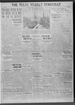 Primary view of object titled 'The Tulsa Weekly Democrat (Tulsa, Okla.), Vol. 20, No. 26, Ed. 1 Thursday, November 1, 1917'.