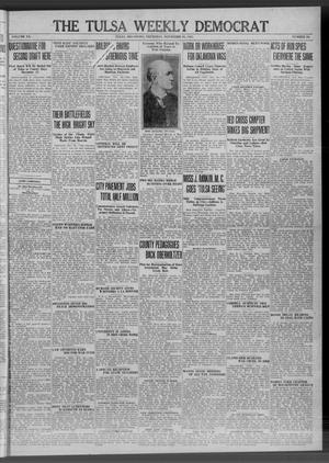 Primary view of The Tulsa Weekly Democrat (Tulsa, Okla.), Vol. 20, No. 30, Ed. 1 Thursday, November 29, 1917