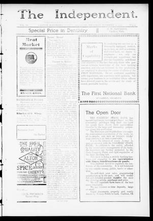 Primary view of object titled 'The Independent. (Cashion, Okla.), Vol. 3, No. 29, Ed. 1 Thursday, November 24, 1910'.