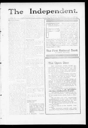 Primary view of object titled 'The Independent. (Cashion, Okla.), Vol. 3, No. 33, Ed. 1 Thursday, December 22, 1910'.
