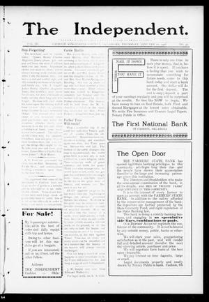 Primary view of object titled 'The Independent. (Cashion, Okla.), Vol. 3, No. 38, Ed. 1 Thursday, January 26, 1911'.