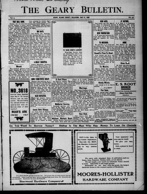 Primary view of object titled 'The Geary Bulletin. (Geary, Okla.), Vol. 9, No. 49, Ed. 1 Thursday, May 21, 1908'.