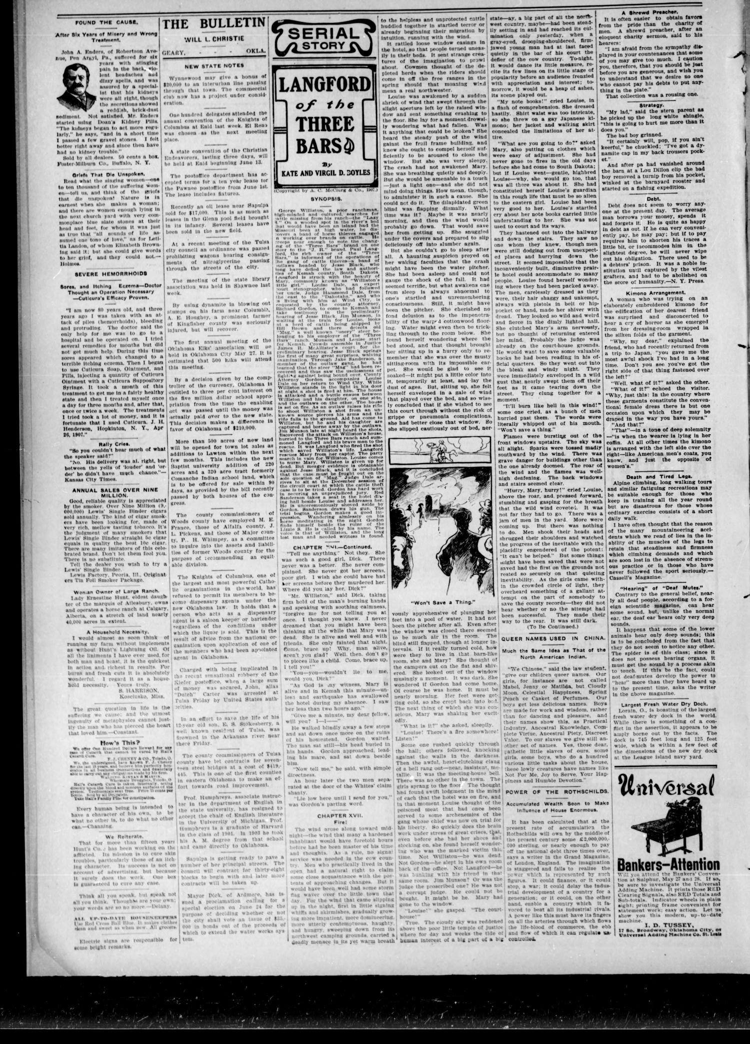 The Geary Bulletin. (Geary, Okla.), Vol. 9, No. 49, Ed. 1 Thursday, May 21, 1908                                                                                                      [Sequence #]: 2 of 6