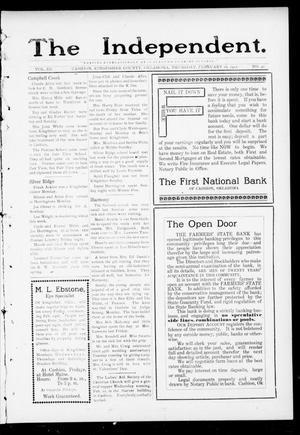 Primary view of object titled 'The Independent. (Cashion, Okla.), Vol. 3, No. 41, Ed. 1 Thursday, February 16, 1911'.