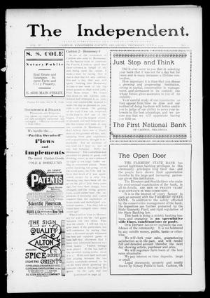 Primary view of object titled 'The Independent. (Cashion, Okla.), Vol. 4, No. 9, Ed. 1 Thursday, July 6, 1911'.
