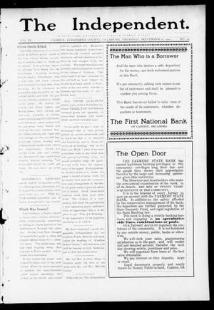 Primary view of object titled 'The Independent. (Cashion, Okla.), Vol. 4, No. 19, Ed. 1 Thursday, September 14, 1911'.