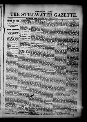 Primary view of The Stillwater Gazette. (Stillwater, Okla.), Vol. 16, No. 14, Ed. 1 Tuesday, March 21, 1905