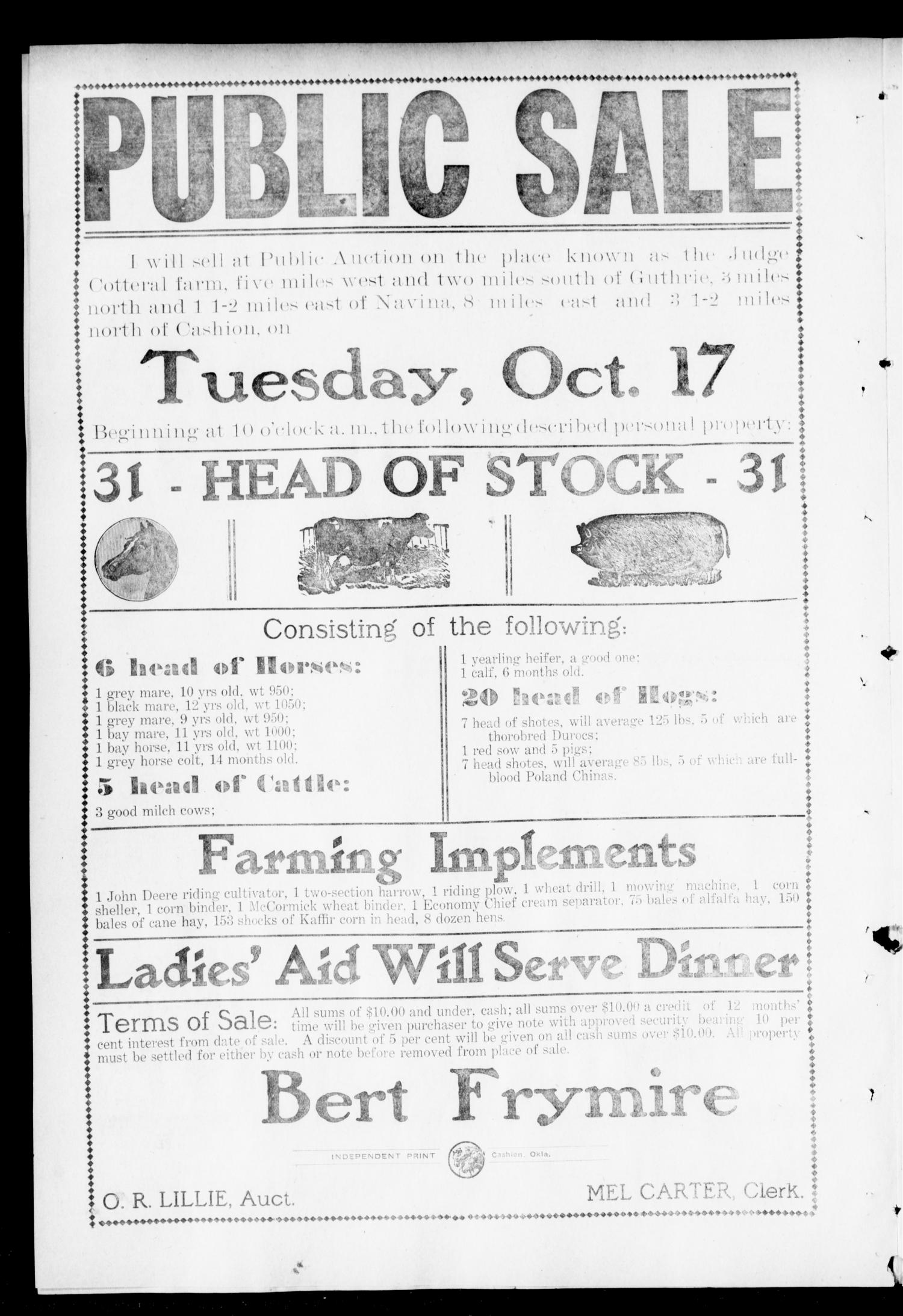 The Independent. (Cashion, Okla.), Vol. 4, No. 22, Ed. 1 Thursday, October 5, 1911                                                                                                      [Sequence #]: 4 of 8