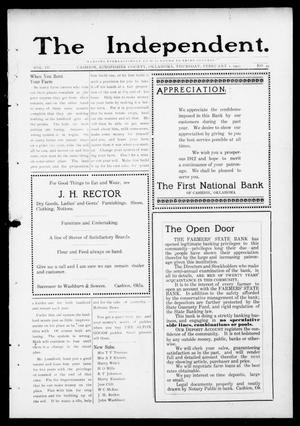 Primary view of object titled 'The Independent. (Cashion, Okla.), Vol. 4, No. 39, Ed. 1 Thursday, February 1, 1912'.