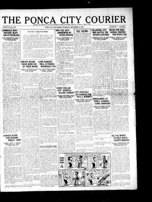 Primary view of object titled 'The Ponca City Courier (Ponca City, Okla.), Vol. 11, No. 47, Ed. 1 Thursday, September 13, 1923'.