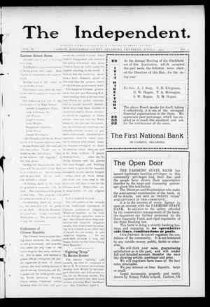 Primary view of object titled 'The Independent. (Cashion, Okla.), Vol. 4, No. 49, Ed. 1 Thursday, April 11, 1912'.