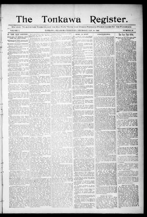Primary view of object titled 'The Tonkawa Register. (Tonkawa, Okla. Terr.), Vol. 1, No. 26, Ed. 1 Thursday, January 16, 1896'.