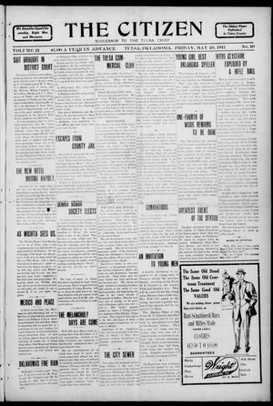 Primary view of object titled 'The Citizen (Tulsa, Okla.), Vol. 11, No. 10, Ed. 1 Friday, May 26, 1911'.
