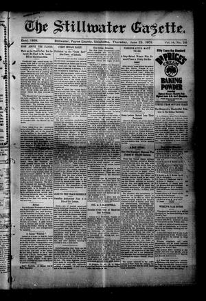 Primary view of object titled 'The Stillwater Gazette. (Stillwater, Okla.), Vol. 14, No. 26, Ed. 1 Thursday, June 25, 1903'.