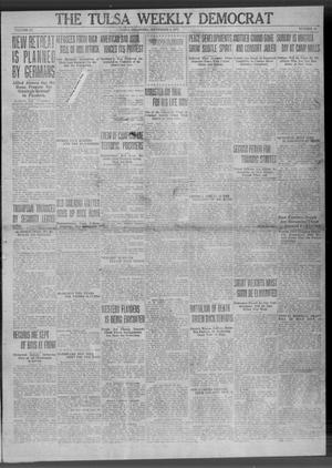 Primary view of object titled 'The Tulsa Weekly Democrat (Tulsa, Okla.), Vol. 20, No. 18, Ed. 1 Thursday, September 6, 1917'.