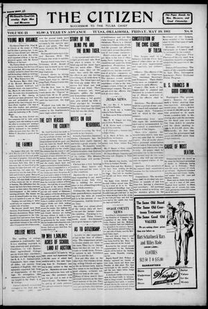Primary view of object titled 'The Citizen (Tulsa, Okla.), Vol. 11, No. 9, Ed. 1 Friday, May 19, 1911'.