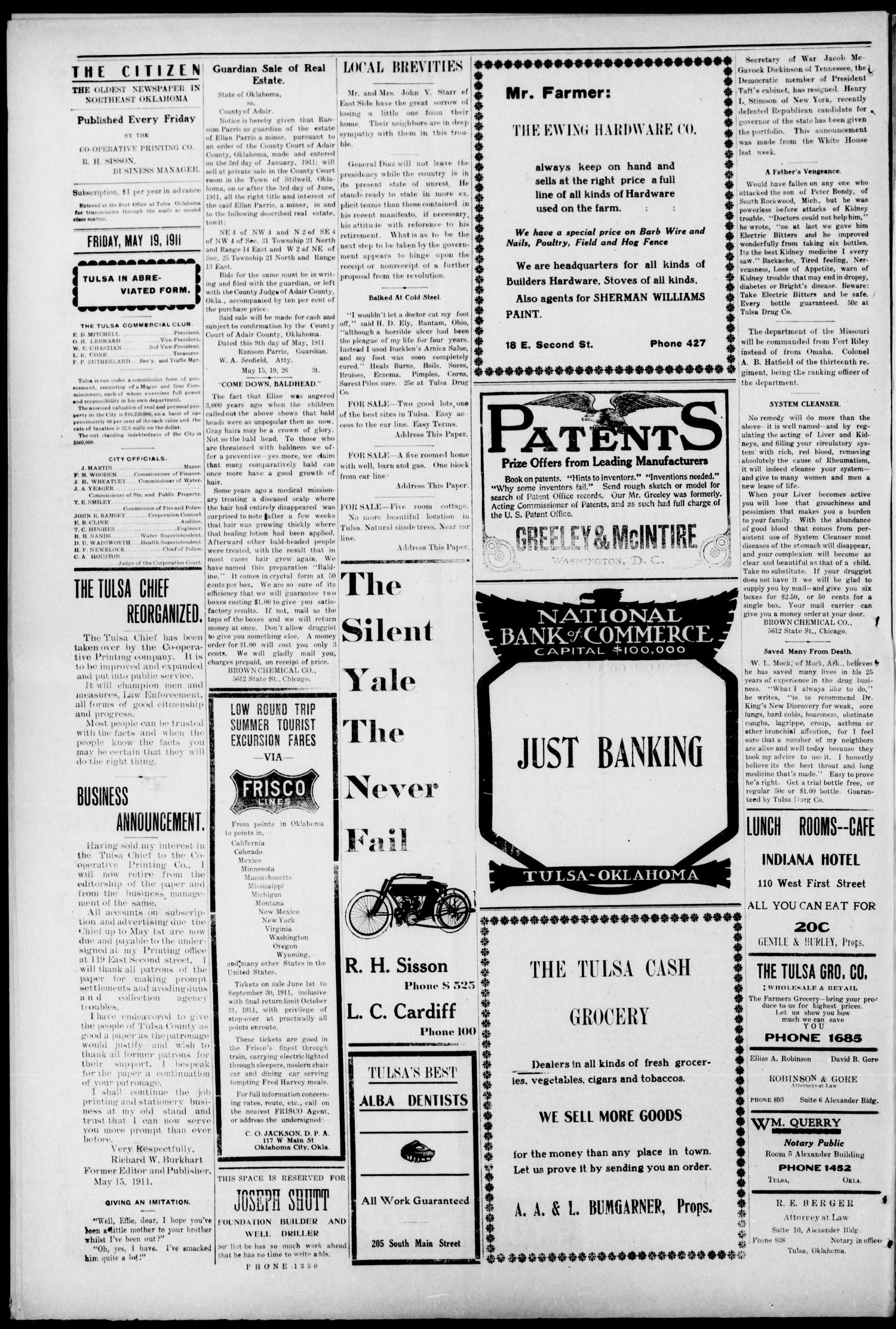 The Citizen (Tulsa, Okla.), Vol. 11, No. 9, Ed. 1 Friday, May 19, 1911                                                                                                      [Sequence #]: 4 of 8