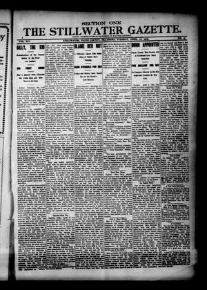 Primary view of object titled 'The Stillwater Gazette. (Stillwater, Okla.), Vol. 16, No. 17, Ed. 1 Tuesday, April 11, 1905'.