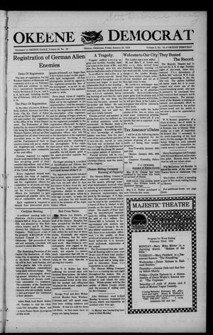 Primary view of object titled 'Okeene Democrat (Okeene, Okla.), Vol. 2, No. 19, Ed. 1 Friday, January 25, 1918'.