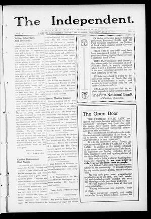 Primary view of object titled 'The Independent. (Cashion, Okla.), Vol. 5, No. 12, Ed. 1 Thursday, July 25, 1912'.