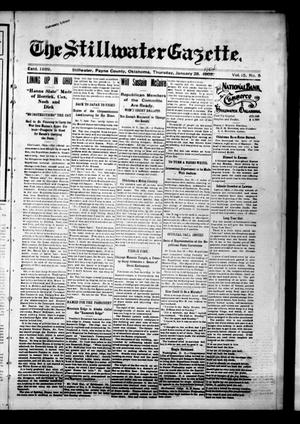 Primary view of object titled 'The Stillwater Gazette. (Stillwater, Okla.), Vol. 15, No. 5, Ed. 1 Thursday, January 28, 1904'.