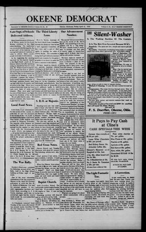 Primary view of object titled 'Okeene Democrat (Okeene, Okla.), Vol. 2, No. 30, Ed. 1 Friday, April 12, 1918'.