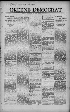 Primary view of object titled 'Okeene Democrat (Okeene, Okla.), Vol. 1, No. 17, Ed. 1 Friday, January 5, 1917'.