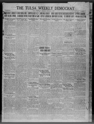 Primary view of object titled 'The Tulsa Weekly Democrat (Tulsa, Okla.), Vol. 20, No. 35, Ed. 1 Thursday, January 3, 1918'.