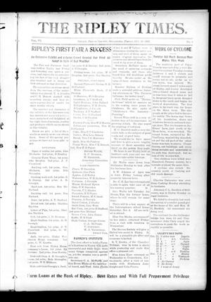 Primary view of object titled 'The Ripley Times. (Ripley, Okla.), Vol. 6, No. 3, Ed. 1 Friday, October 20, 1905'.