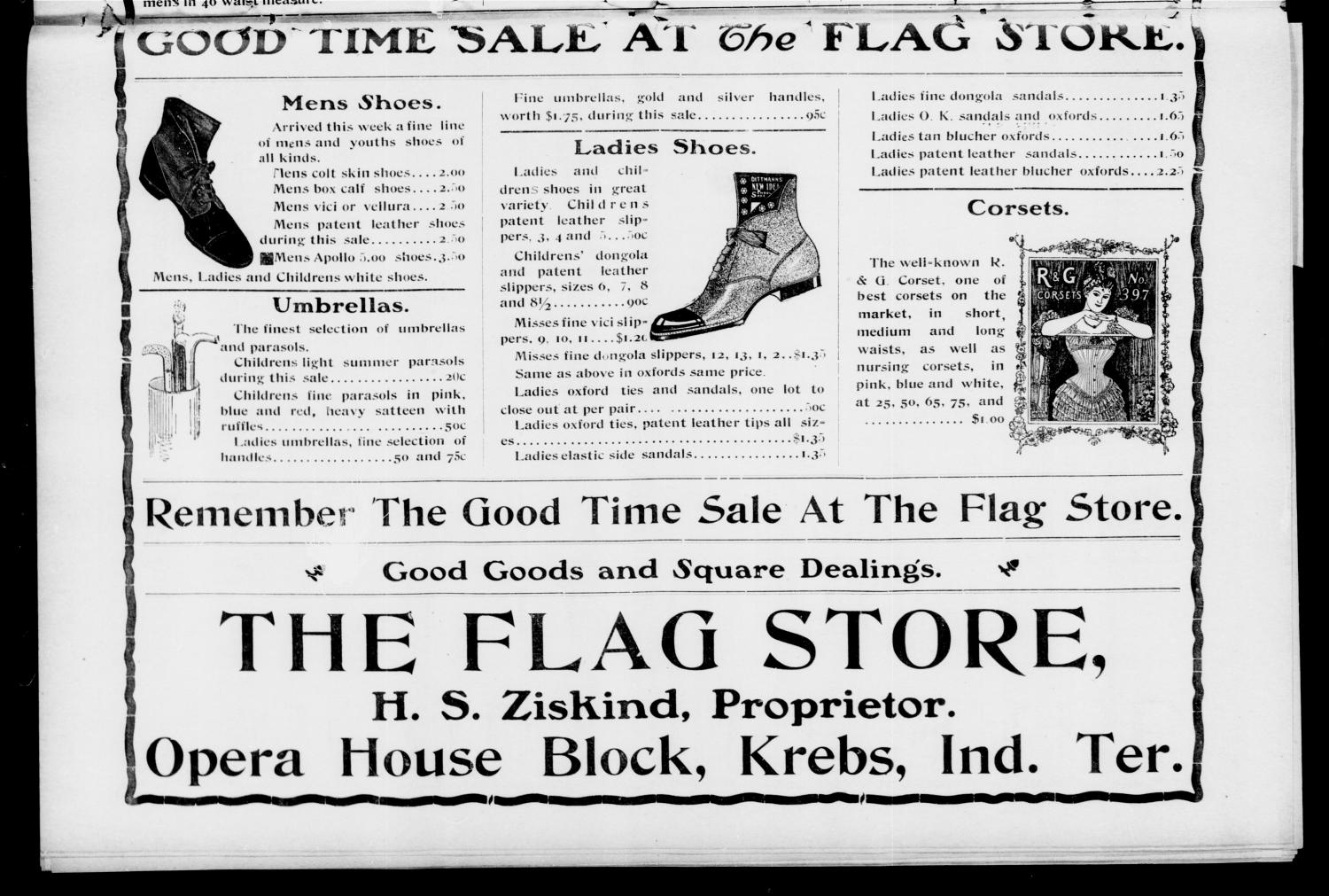 The Krebs Banner. (Krebs, Indian Terr.), Vol. 1, No. 24, Ed. 1 Friday, June 15, 1906                                                                                                      [Sequence #]: 4 of 8