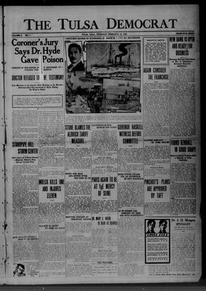 Primary view of object titled 'The Tulsa Democrat (Tulsa, Okla.), Vol. 11, No. 7, Ed. 1 Thursday, February 10, 1910'.