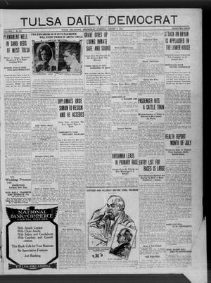 Primary view of object titled 'Tulsa Daily Democrat (Tulsa, Okla.), Vol. 7, No. 261, Ed. 1 Wednesday, August 2, 1911'.