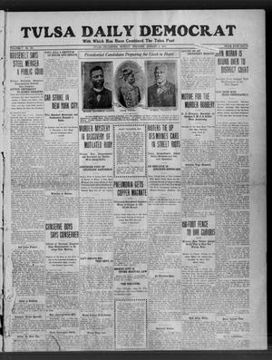 Primary view of object titled 'Tulsa Daily Democrat (Tulsa, Okla.), Vol. 7, No. 263, Ed. 1 Sunday, August 6, 1911'.