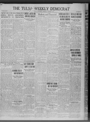 Primary view of object titled 'The Tulsa Weekly Democrat (Tulsa, Okla.), Vol. 20, No. 38, Ed. 1 Thursday, January 24, 1918'.