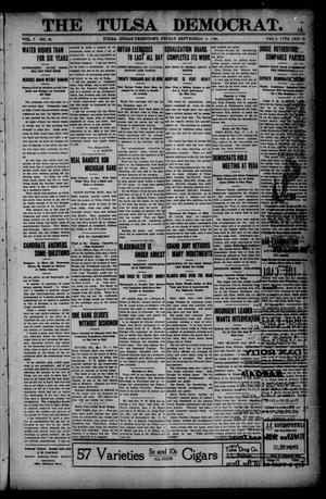 Primary view of object titled 'The Tulsa Democrat. (Tulsa, Indian Terr.), Vol. 7, No. 38, Ed. 1 Friday, September 21, 1906'.
