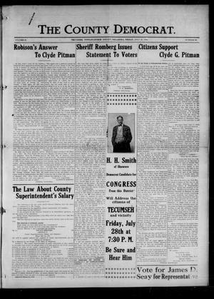Primary view of object titled 'The County Democrat. (Tecumseh, Okla.), Vol. 22, No. 40, Ed. 1 Friday, July 28, 1916'.