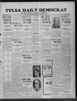 Primary view of object titled 'Tulsa Daily Democrat (Tulsa, Okla.), Vol. 7, No. 273, Ed. 1 Wednesday, August 16, 1911'.