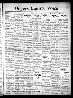 Primary view of object titled 'Rogerts County Voice (Collinsville, Okla.), Vol. 1, No. 31, Ed. 1 Saturday, February 14, 1914'.