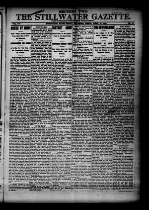 Primary view of object titled 'The Stillwater Gazette. (Stillwater, Okla.), Vol. 16, No. 18, Ed. 1 Friday, April 21, 1905'.