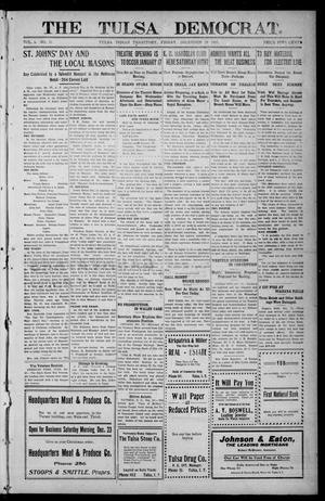 Primary view of object titled 'The Tulsa Democrat. (Tulsa, Indian Terr.), Vol. 7, No. 1, Ed. 1 Friday, December 29, 1905'.