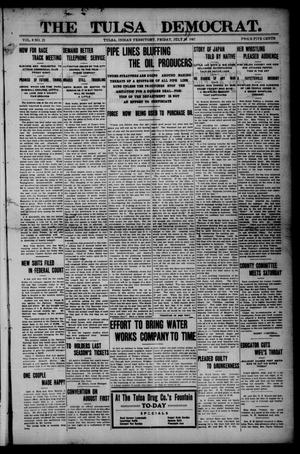 Primary view of object titled 'The Tulsa Democrat. (Tulsa, Indian Terr.), Vol. 8, No. 25, Ed. 1 Friday, July 19, 1907'.