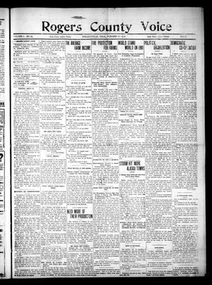 Primary view of Rogers County Voice. (Collinsville, Okla.), Vol. 1, No. 14, Ed. 1 Saturday, October 18, 1913