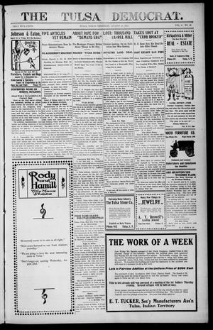 Primary view of object titled 'The Tulsa Democrat. (Tulsa, Indian Terr.), Vol. 6, No. 33, Ed. 1 Friday, August 18, 1905'.