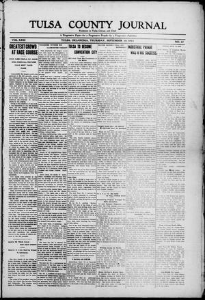 Primary view of object titled 'Tulsa County Journal (Tulsa, Okla.), Vol. 23, No. 27, Ed. 1 Thursday, September 19, 1912'.