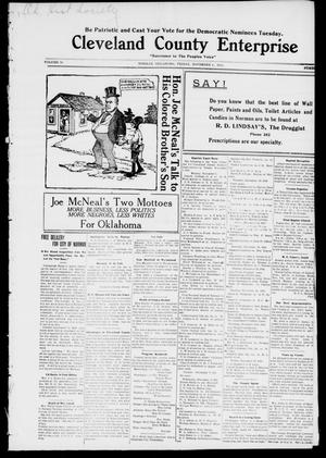 Cleveland County Enterprise. (Norman, Okla.), Vol. 19, No. 17, Ed. 1 Friday, November 4, 1910