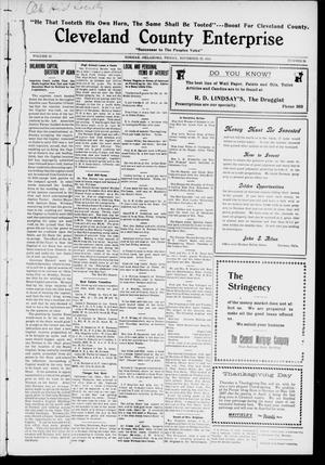 Cleveland County Enterprise. (Norman, Okla.), Vol. 19, No. 20, Ed. 1 Friday, November 25, 1910