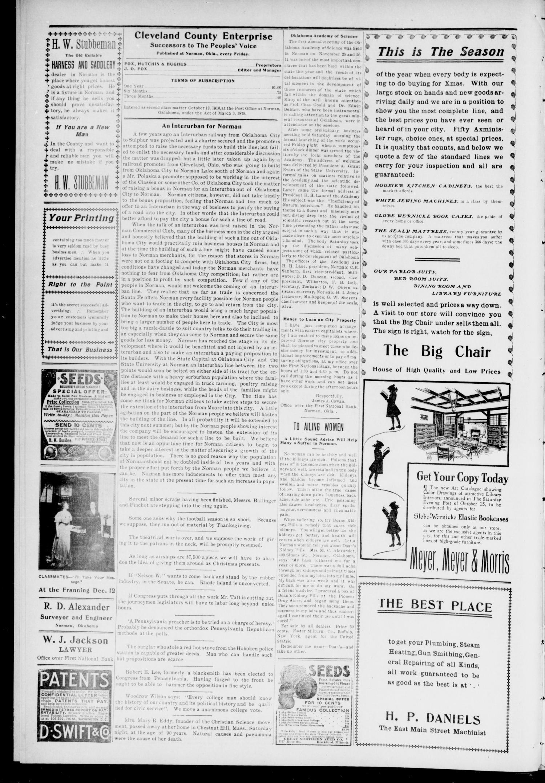 Cleveland County Enterprise. (Norman, Okla.), Vol. 19, No. 22, Ed. 1 ...