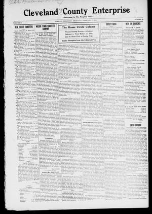 Primary view of object titled 'Cleveland County Enterprise. (Norman, Okla.), Vol. 19, No. 31, Ed. 1 Thursday, February 2, 1911'.