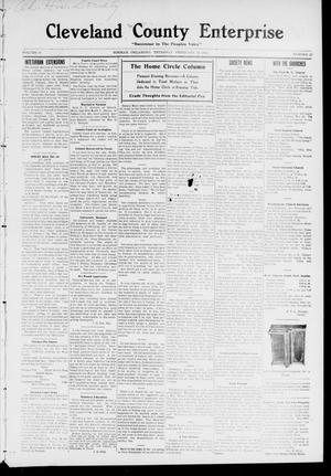 Primary view of object titled 'Cleveland County Enterprise. (Norman, Okla.), Vol. 19, No. 33, Ed. 1 Thursday, February 16, 1911'.